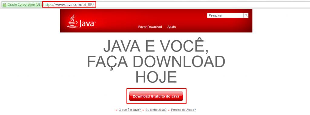 Instalação do Java 1
