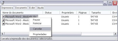 Parando o serviço de impressão no Windows (5)
