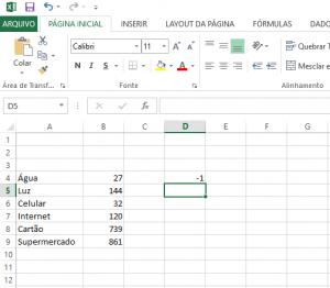 Transformar Números Positivos em Números Negativos no Excel-2
