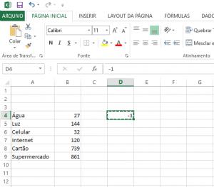 Transformar Números Positivos em Números Negativos no Excel-3