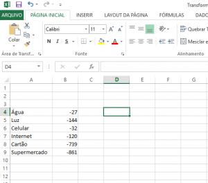 Transformar Números Positivos em Números Negativos no Excel-8