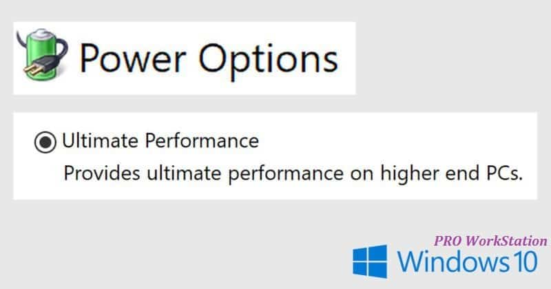 "Windows 10 com modo ""Ultimate Performance"""